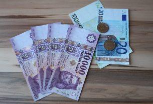 Készpénz - Magyar forint, Euró