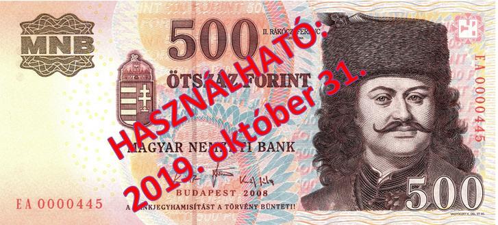 Régi 500 forintos