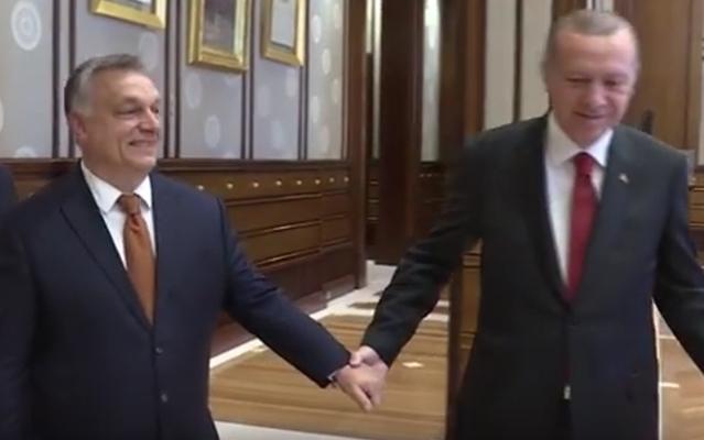 Erdogan kézen fogva vezeti Orbánt. Vagy az orránál...